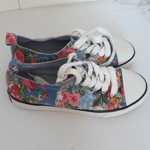 Polo Ralph Lauren floral canvas low top sneakers 6